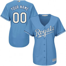 Women's Custom Kansas City Royals Authentic Light Blue Alternate 1 Cool Base Jersey