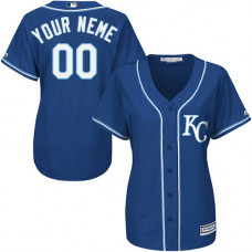 Women's Custom Kansas City Royals Authentic Blue Alternate 2 Cool Base Jersey
