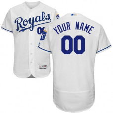 Custom Kansas City Royals White Flexbase Authentic Collection Jersey