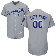 Custom Kansas City Royals Grey Flexbase Authentic Collection Jersey