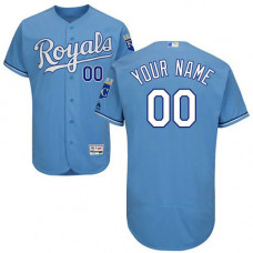 Custom Kansas City Royals Light Blue Flexbase Authentic Collection Jersey