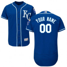 Custom Kansas City Royals Blue Flexbase Authentic Collection Jersey