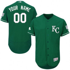 Custom Kansas City Royals Green Celtic Flexbase Authentic Collection Jersey