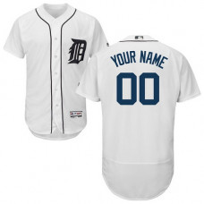 Custom Detroit Tigers Customzied White Flexbase Authentic Collection Jersey