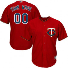Custom Minnesota Twins Authentic Scarlet Alternate Cool Base Jersey