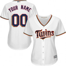 Women's Custom Minnesota Twins Replica White Home Cool Base Jersey