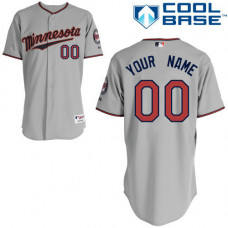 Women's Custom Minnesota Twins Replica Grey Road Cool Base Jersey