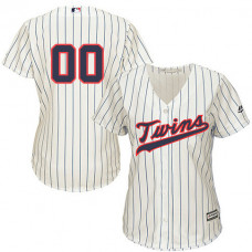 Women's Custom Minnesota Twins Authentic Cream Alternate Cool Base Jersey