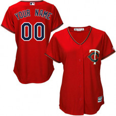 Women's Custom Minnesota Twins Authentic Scarlet Alternate Cool Base Jersey