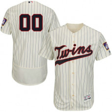 Custom Minnesota Twins Customzied Cream Flexbase Authentic Collection Jersey