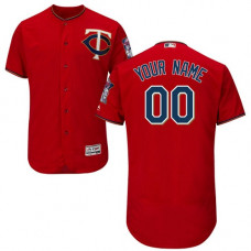 Custom Minnesota Twins Customzied Scarlet Flexbase Authentic Collection Jersey