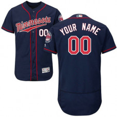 Custom Minnesota Twins Customzied Navy Blue Flexbase Authentic Collection Jersey