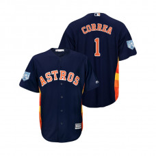 Houston Astros Navy #1 Carlos Correa Cool Base Jersey 2019 Spring Training