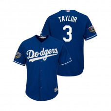 Los Angeles Dodgers Royal #3 Chris Taylor Cool Base Jersey 2018 World Series