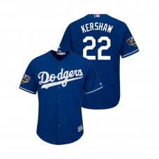 Los Angeles Dodgers Royal #22 Clayton Kershaw Cool Base Jersey 2018 World Series
