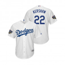 Los Angeles Dodgers White #22 Clayton Kershaw Cool Base Jersey 2018 World Series