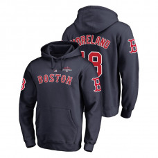 Boston Red Sox #18 Navy Mitch Moreland Pullover Majestic Hoodie 2018 World Series Champions
