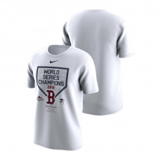 Boston Red Sox Celebration Cotton White Nike T-Shirt 2018 World Series Champions