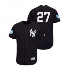 New York Yankees Navy #27 Giancarlo Stanton Flex Base Jersey 2019 Spring Training