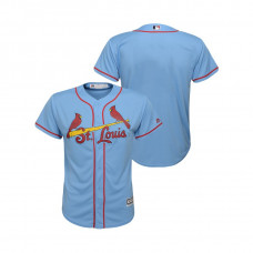 Kid's St. Louis Cardinals Horizon Blue 2019 Cool Base Alternate Jersey
