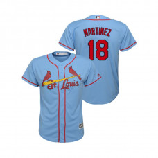 Kid's St. Louis Cardinals Horizon Blue #18 2019 Cool Base Carlos Martinez Alternate Jersey