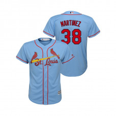 Kid's St. Louis Cardinals Horizon Blue #38 2019 Cool Base Jose Martinez Alternate Jersey