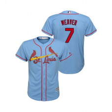 Kid's St. Louis Cardinals Horizon Blue #7 2019 Cool Base Luke Weaver Alternate Jersey