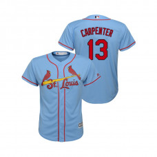 Kid's St. Louis Cardinals Horizon Blue #13 2019 Cool Base Matt Carpenter Alternate Jersey