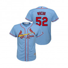 Kid's St. Louis Cardinals Horizon Blue #52 2019 Cool Base Michael Wacha Alternate Jersey