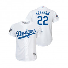 Youth Los Angeles Dodgers White #22 Clayton Kershaw Cool Base Jersey 2018 World Series
