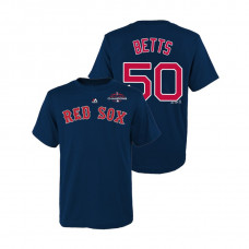 Youth Boston Red Sox Navy #50 Mookie Betts Majestic T-Shirt 2018 World Series Champions