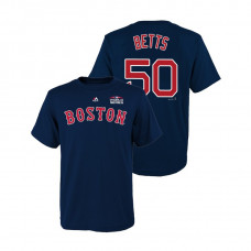 Youth Boston Red Sox Navy #50 Mookie Betts Majestic T-Shirt 2018 World Series